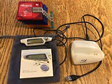 Sharp Md-Mt770 MiniDisc Walkman Mdlp w/ Discs, Remote, Dock, New Battery, Works!