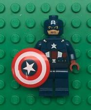 Lego Captain America Minifig lot: Super Hero Figure Avengers 6865 dark blue suit