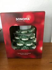 SONOMA Electric CHRISTMAS TREE Scented Wax Melt Cube Warmer NIB Holiday Winter