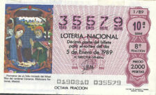 AÑO COMPLETO 1989. 51 DÉCIMOS DE LOTERÍA NACIONAL. TEMA LAS BELLEZAS DE ESPAÑA..