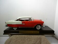 DANBURY MINT ~ 1/16 ~ 1955 CHEVY BEL AIR ~ WITH WOOD BASE