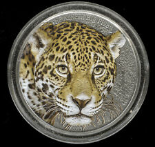 2013 Cameroon Leopard African Big Five .999 Silver Colored Antique Finish Coin
