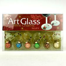 Christmas Wine Glass Charms Set of 6