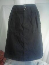 Colorado Ladies Skirt in an Embossed Charcoal with a Fine Grey Stripe Size 8