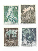 Czechoslovakia postage stamps Nature Scenery 1963 x set of 4