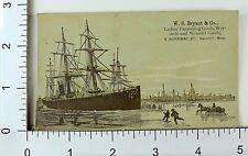 W.S Bryant & Co Ladies' Furnishing Goods Nautical Scene Steamer Ship #O