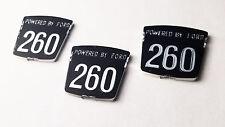 SUNBEAM TIGER 260 Molded Chrome Emblem Set (as originals)  3pc (Not Printed)