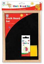 A4 Chalk Board Children Kids Fun Black Dry Wipe Blackboard Chalkboard Eraser Set