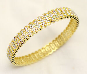 Cubic Zirconia Wedding Designer Bangle Bracelet 14 WBN 6