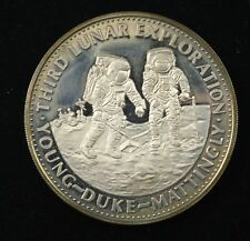 "Danbury Mint Sterling Proof Silver ""Third Lunar Exploration """
