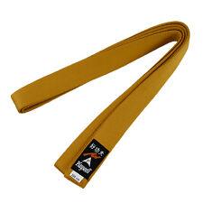 Playwell Plain Coloured Gold Grading Belts Choi Kwang Do Adults Childrens Kids