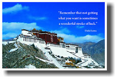 Dalai Lama - Potala Palace Tibet -  MOTIVATIONAL POSTER