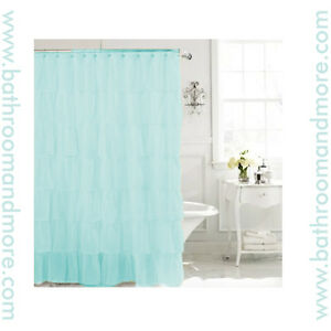 "Carnation Carmen Crushed Voile Ruffled Tier Shower Curtain 70""x72"""