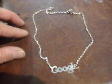 collana  personalizzata  google PL ARGENTO made in italy QUALSIASI scritta