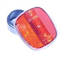 BIKE REAR LIGHT REFLECTOR MUDGUARD FENDER RED SEATPOST VINTAGE HOLDER FIXIE