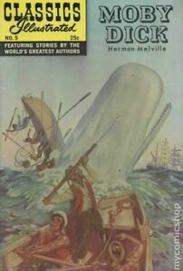 Classics Illustrated 005 Moby Dick #24 VG 1971 Stock Image Low Grade