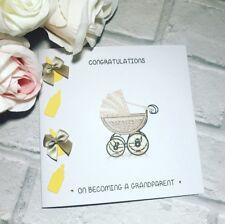 Adorable bebé hechos a mano tarjeta felicitaciones por convertirse en un abuelo