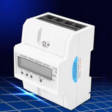 Digital LCD Jauge Compteur Mètre Électrique Triphasé Quatre fils KWH Rail DIN