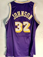 19dfb6938de Adidas Swingman NBA Jersey Los Angeles Lakers Magic Johnson Purple HWC sz XL