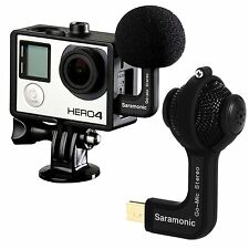 Gopro 3 3+ 4 Hero Microphone Stereo Camera Accessories Sport Action No Batteries