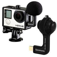 Cámara de acción micrófono Hero GoPro 3 3+ 4 Estéreo accesorios de la deportiva sin pilas