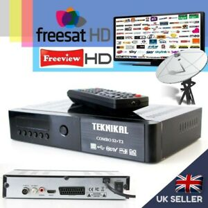 Combo FREESAT + FREEVIEW -2 IN 1 Receiver Recorder Set Top Box TV Satellite SKY