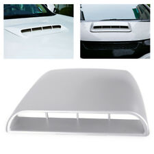 Grey Car Universal 4x4 Air Flow Intake Hood Scoop Vent Bonnet Decorative Cover