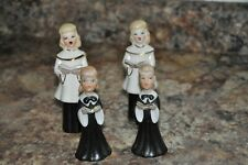 VINTAGE CUTE SET SINGING BOY AND GIRL SALT AND PEPPER SHAKERS / FIGURINES