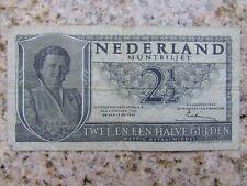 2 1/2 Gulden Niederlande, Banknote, Papiergeld, Geldschein