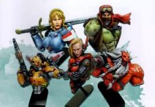 1/12 5pcs Resin Figure Model Kit Bust Space Avengers Unpainted Unassambled