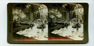 Vintage Stéréogramme De L'Est Salle The White Maison Visite Prince Henry Prusse
