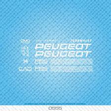 Peugeot Tourmalet bicyclette decals-transfers-autocollants-lot 555