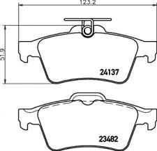 Textar Bremsbelagsatz VA Ceramic-Fusion/Epad - Nr. 2413781