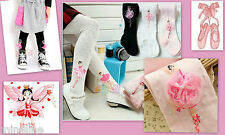 ★★★ NEU Tolle Mädchen Strumpfhose rosa Ballerina Applikation 104-110 ★★★M14