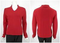 Womens Peter Hahn 100% Cashmere Jumper Sweater Red V-Neck Size D40 / UK14