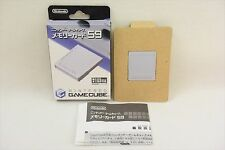 Nintendo Game Cube Official Memory Card 59 Boxed DOL-008 Import JAPAN 2486