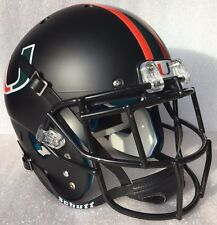 MIAMI HURRICANES NCAA Schutt Full Size GAMEDAY Replica Football Helmet