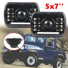 2x Rectangular 5x7'' LED Headlight High/Low Dual Beam Fit for Jeep Truck Car SUV