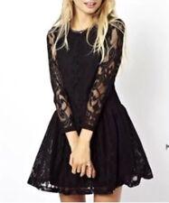 NWOT ASOS Petite Black lace party dress 00 PXS XXS UK4 EU32