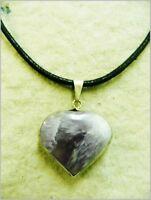 Colgante corazon de amatista, amethyst pendant.  3-65