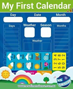 NEW Educational Magnetic Childrens My First Calendar & Weather Chart