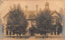 MI - REAL PHOTO 1900's Public School at White Cloud, Michigan - Newaygo County