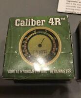 NEW Cigar Oasis Caliber IV 4R Digital Humidor Hygrometer Calibration Round Gold