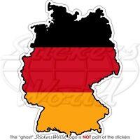 GERMANY German Map-Flag Deutschland, Vinyl Bumper Sticker - Decal