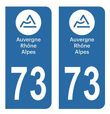 Autocollant Stickers plaque d'immatriculation véhicule département 73 Savoie