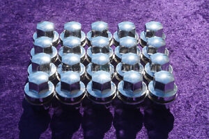 Chrome Land Rover Range Rover Solid Lug Nuts 20 For LR3 LR4 HSE Supercharged