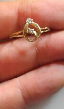 Vintage Genuine  Diamond and Gold ring -needs a fix -1 +Post FREE