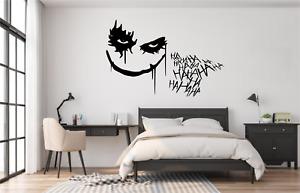 The Joker Batman HAHA Wall Art Sticker Decal Home Decor SU27