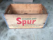 1940 1950 CANADA DRY SPUR Cola Wooden crate Cleveland Ohio Soda Bottle Vintage