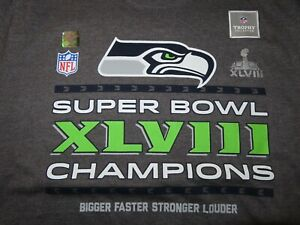 SEATTLE SEAHAWKS Super Bowl XLVIII Champions (XL) Shirt Hologram RUSSELL WILSON